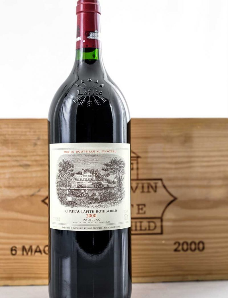 Lot 346: 12 bottles 2000 Chateau Lafite Rothshild in OWC