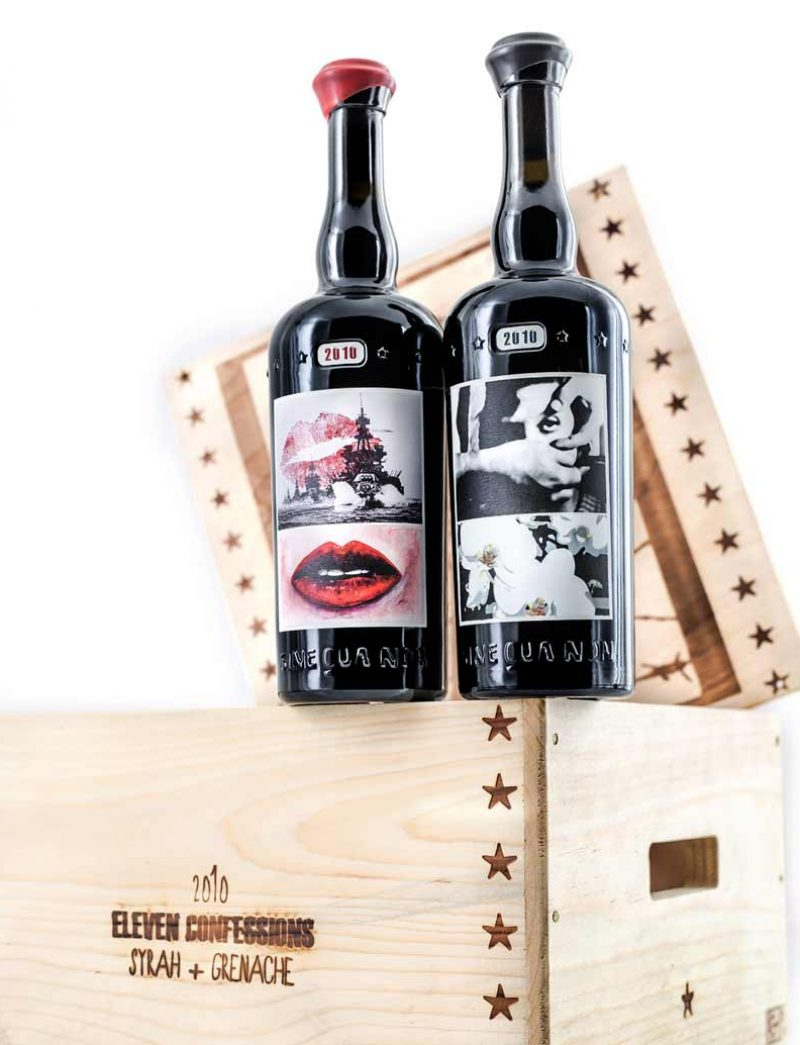 Lot 274: 3 bottles each 2010 Sine Qua Non Grenache and Syrah Stockholm Syndrome in OWC