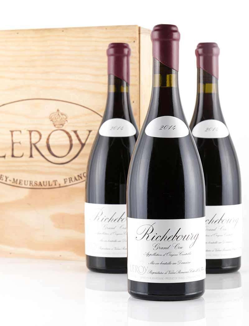 Lot 714: 3 bottles 2014 Domaine Leroy Richebourg in OWC